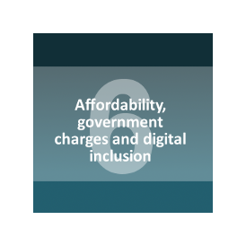 Affordability, government charges and digital inclusion
