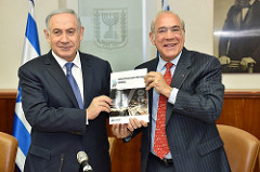 Benjamin Netanyahu, Prime Minister of Israel and Angel Gurría Secretary-General of the OECD