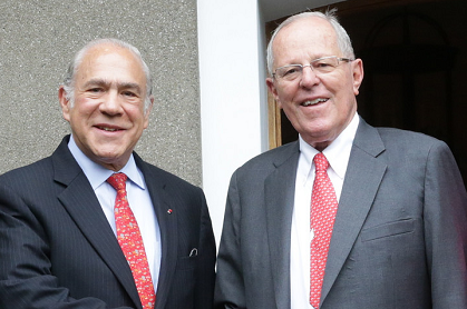 14 October 2016, OECD Secretary-General Angel Gurria and Peruvian President Pedro Pablo Kuczynski