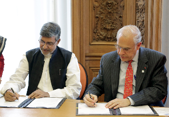 OECD Secretary-General Angel Gurría, and Nobel Laureate Kailash Satyarthi, founder of the Kailash Satyarthi Children's Foundation (KSCF)