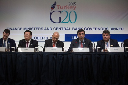 G20 finance ministers meeting on 8 October 2015, in Lima, Peru
