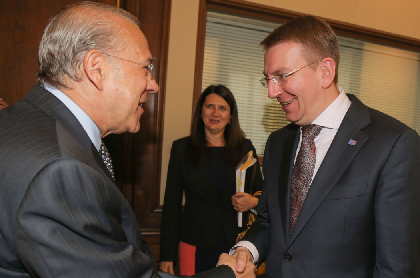 2 June 2015 (OECD, Paris) - OECD secretary-General Angel Gurría meet with Edgars Rinkēvičs, Minister of Foreign Affairs