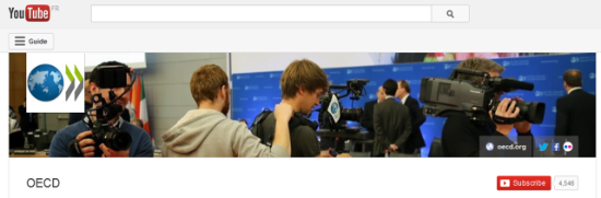 OECD Youtube Printscreen
