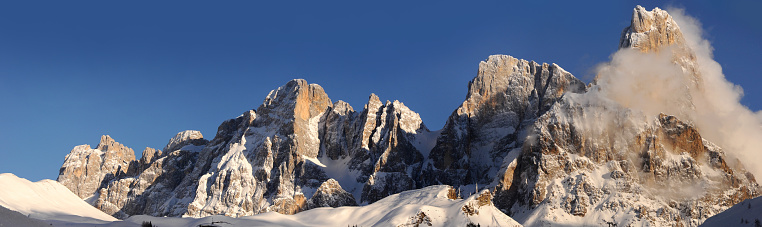 Dolomites natural winter landscape