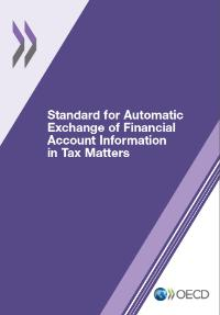 The cover of the Standard for Automatic Exchange of Financial Account Information