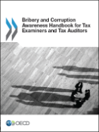 Publication cover for the Bribery and Corruption awareness handbook for tax examiners and tax auditors