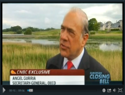 Screenshot of Angel Gurria G8 Interview