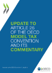 Update to Article 26 of the Model Tax Convention Cover Page