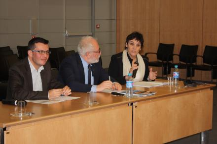 The final session included closing remarks by Freddy Montero, Deputy Minister of the Interior and the Police in Costa Rica; Hélene Bourgade, Head of the European Commission's Employment, Social Inclusion, Migration Unit; and Mario Pezzini, Director of the OECD Development Centre (left to right).