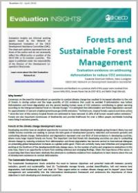 Forests and Sustainable Forest Management