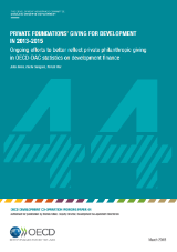 Cover page WP 44 Private Philanthropy Foundations' Giving for Development in 2013-2015