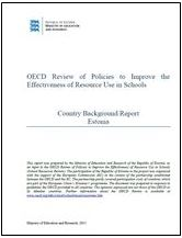 Cover for the Estonia Country Background Report - School Resources Review