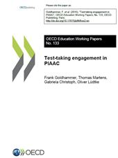 PIAAC WKP 133: Test-taking engagement in PIAAC (cover page)