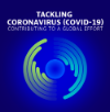 "OECD COVID-19 logo with words ""Tackling (coronavirus) COVID-19 - Contributing to a global effort"""