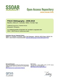 Cover of the GESIS Working paper: PIAAC Bibliography 2008-2019
