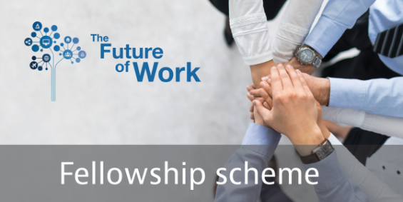 Clickable image for the Future of Work Fellow scheme on the FOW website