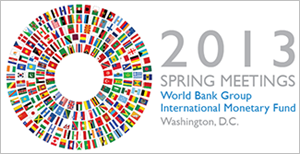 WB/IMF 2013 Spring meetings logo