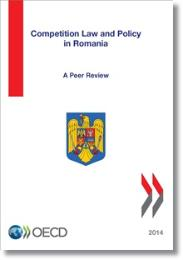 Cover for the 2014 Peer Review of Romania's competition laws and policy