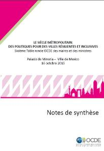 Cover: 6th Roundtable session notes - french