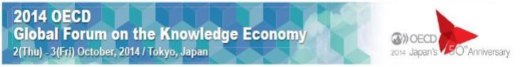 banner for the global forum on knowledge economy in Tokyo October 2-3 2014