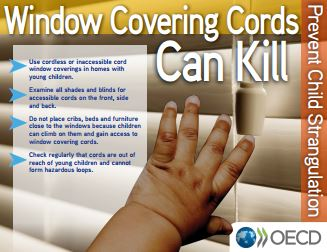 OECD window covering cords safety awareness campaign