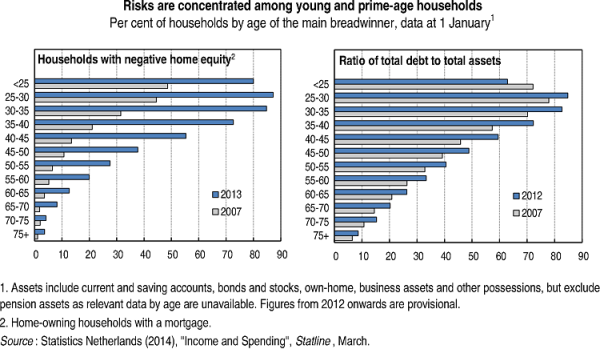 Risks are concentrated among young and prime-age households