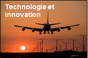Vignette Technologie et Innovation (avion qui attérit)