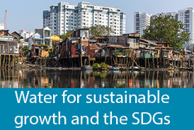 Water for sustainable growth and the SDGs - thicker font