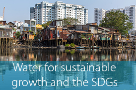 Water for sustainable growth and the SDGs - thin font transparent