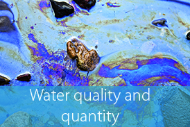 Water satellite site Button water quality and quantity