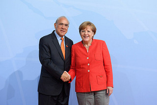 G20 Germany 2017 Hamburg Angel Gurria Angela Merkel
