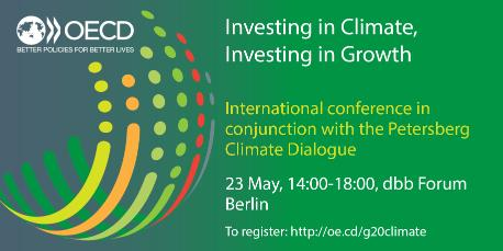 G20 event postcard Investing in Climate Investing in Growth