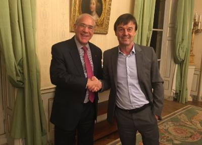 OECD Secretary-General and Nicolas Hulot