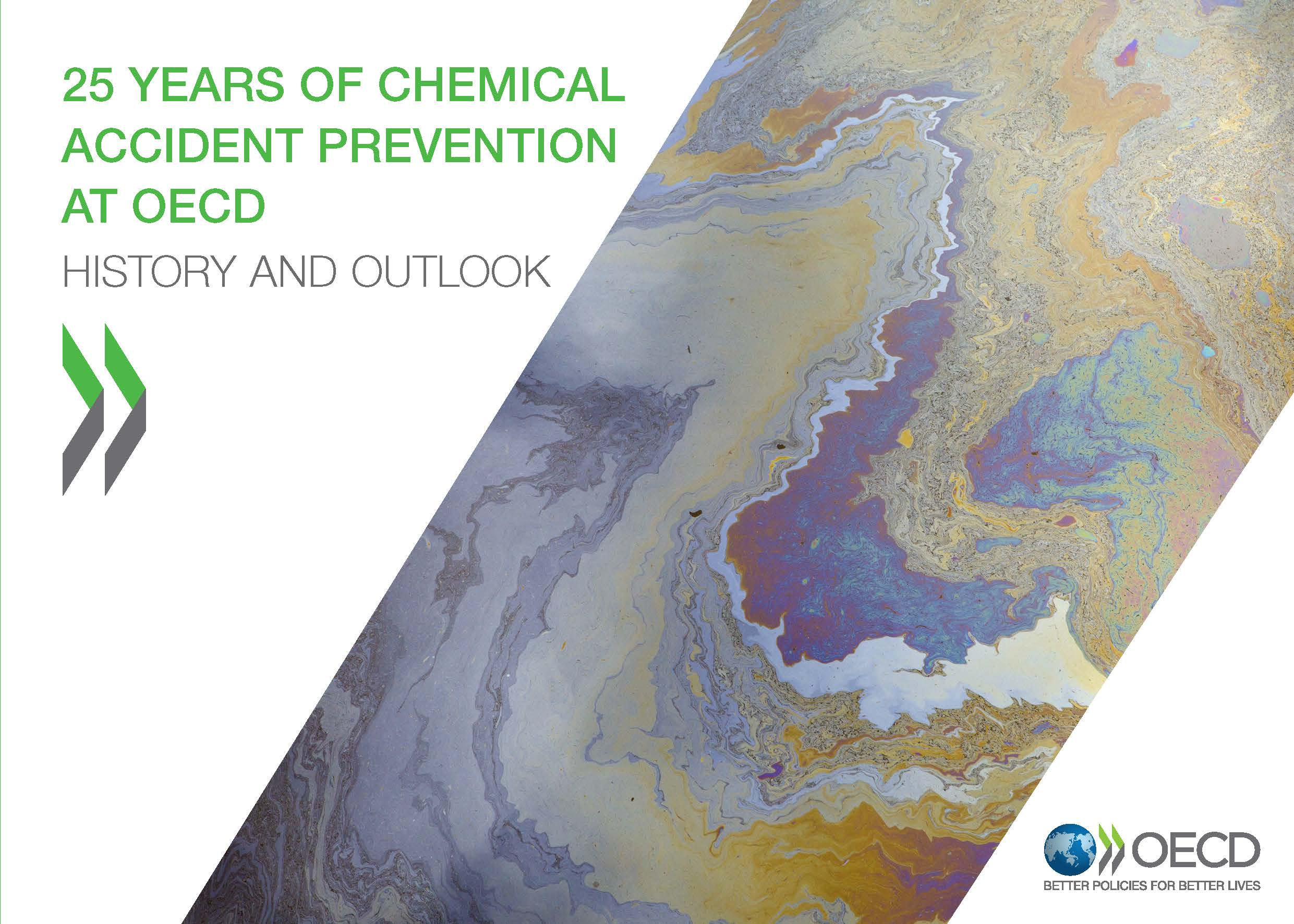 Cover page of the 25 years of chemical accident prevention at OECD image