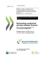 Research Collaborative - Estimating mobilised private climate finance - working paper no. 83