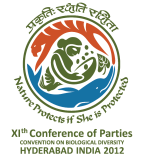 Logo of the COP-11, Hyderabad in India