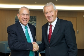 Meeting between Angel GURRIA, General Secretary of the OECD and Thorbjørn Jagland, Secretary General of the Council of Europe