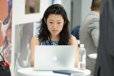 Young woman on her computer