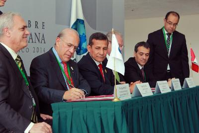 Angel Gurria and Ollanta Humala