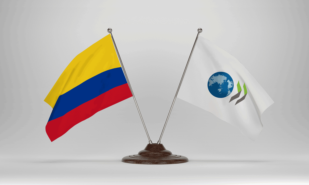 Colombia and OECD flags