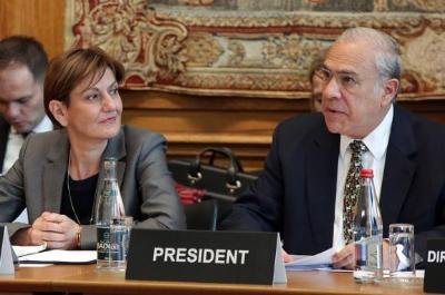 Martina Dalic, Croatia and Angel Gurría, OECD