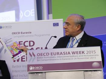 Angel Gurria presents the SMEPI Eastern Partner Countries 2016 Report during Eurasia Week 2015