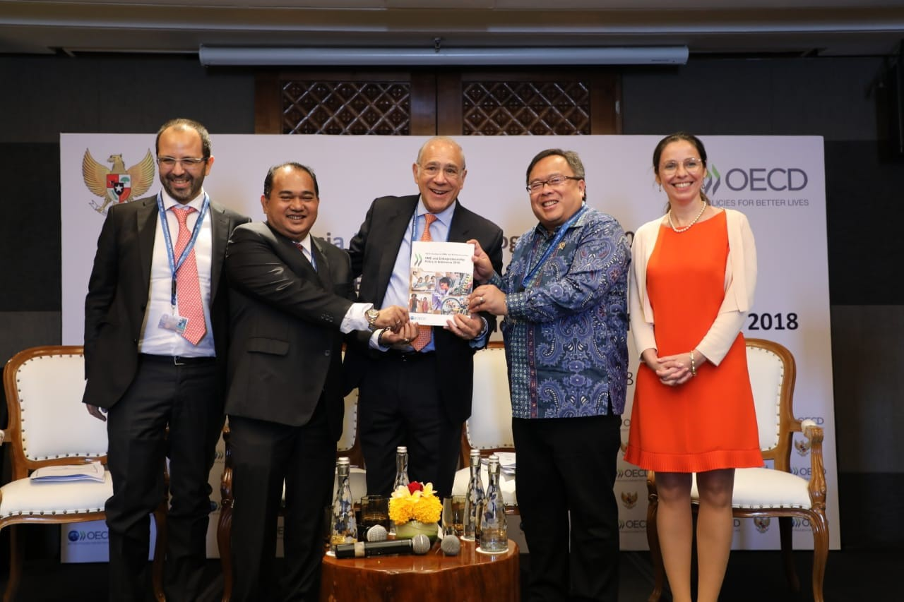 Launch event of Indonesia KP -new Joint Work Programme, 2018 Economic Survey, 2018 SME Policy Review on 10 October, in Bali,Indonesia