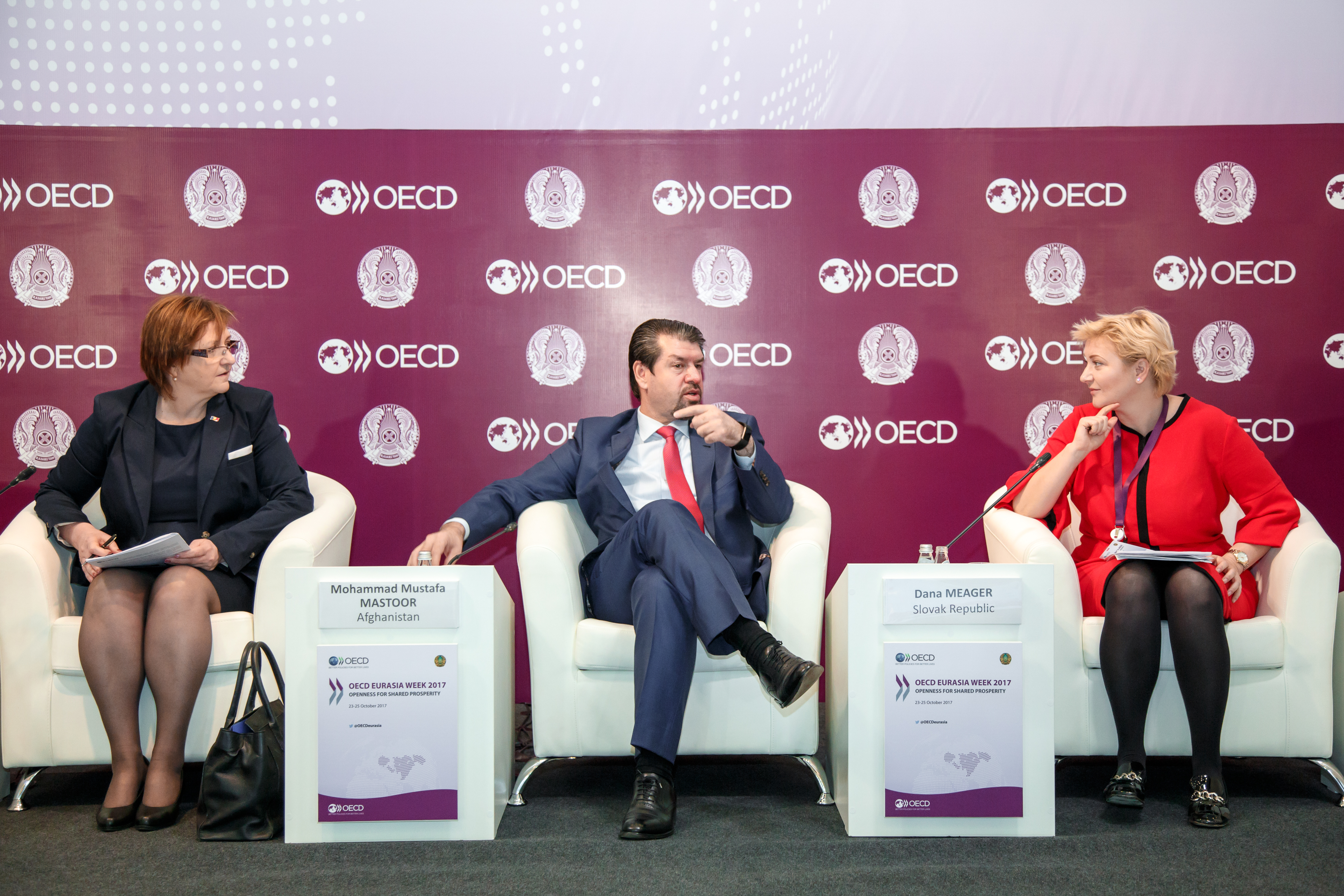 Three panellists from the Eurasia Week 2018 Ministerial Panel