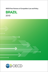 Book cover of the Brazil Peer Review of 2019, green and white color with black tittle
