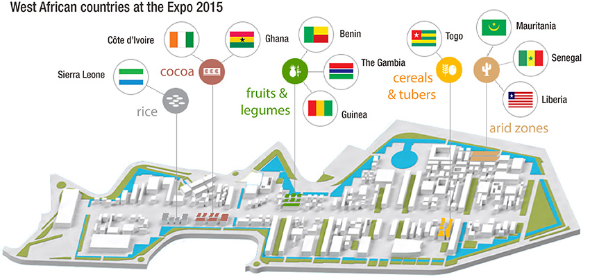 West africa ten west african countries participated in the expos thematic clusters we invite you to rediscover expo milano 2015 from a west african perspective via ccuart Images