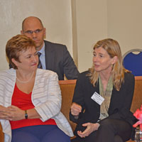 Kristaline Georgieva, EU Commissioner and Nancy Lindborg, USAID Assistant Administrator