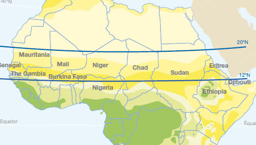 Map Of Africa Climate Zones.Climate Change Sahel And West Africa Club Secretariat