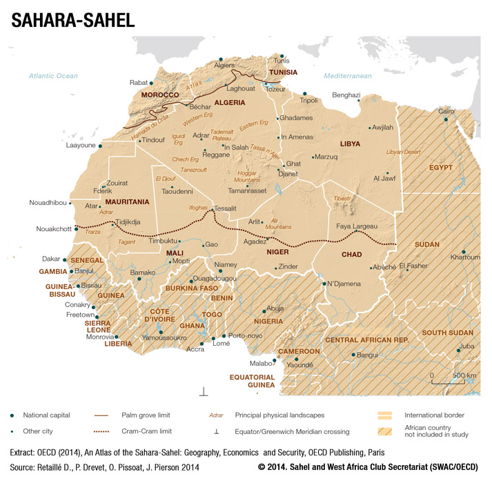 Maps - Sahel and West Africa Club Secretariat Sahel Desert Map on kalahari desert map, arabian desert map, strait of hormuz map, lake victoria map, libyan desert map, great victoria desert map, tibesti mountains map, ethiopian highlands map, red sea map, gobi desert map, atacama desert map, nubian desert map, zagros mountains map, african deserts map, great rift valley map, atlas mountains map, namib desert map, serengeti plain map, congo basin map, sahara desert map,