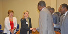 EU Commissioner Kristalina Georgieva and USAID Assistant Administrator Nancy Lindborg